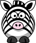 1237098546824050827StudioFibonacci_Cartoon_zebra svg med